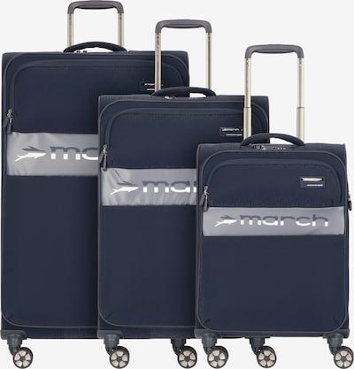 March15 Trading Kofferset 'Mosaic' in blau / grau / weiß, Produktansicht