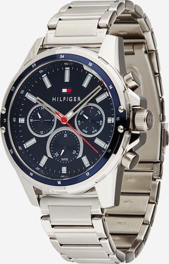 TOMMY HILFIGER Uhr 'Mason' in dunkelblau / melone / silber / weiß, Produktansicht