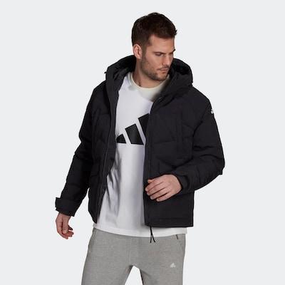 ADIDAS PERFORMANCE Sportjas in de kleur Zwart / Wit: Vooraanzicht