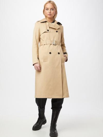 PATRIZIA PEPE Abrigo de entretiempo en camelo / negro, Vista del modelo
