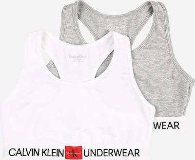 Liemenėlė iš Calvin Klein Underwear , spalva - pilka / balta, Prekių apžvalga