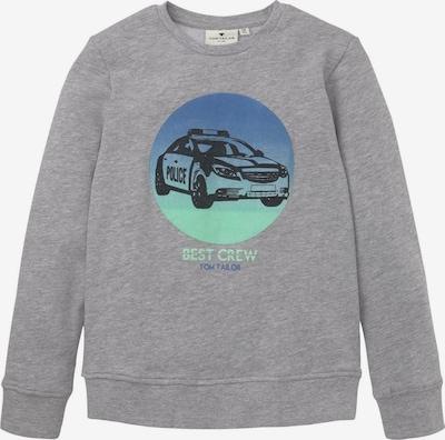 TOM TAILOR Sweatshirt in cyanblau / grau / schwarz, Produktansicht