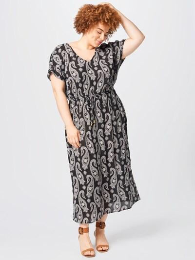 KAFFE CURVE Kleid 'Passa Ami' in schwarz / weiß, Modelansicht