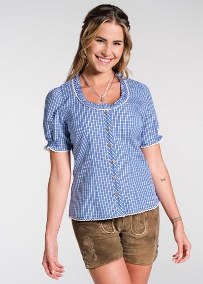 SPIETH & WENSKY Bluse in blau, Modelansicht