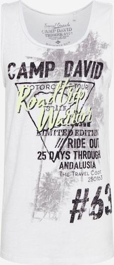 CAMP DAVID Shirt in hellgrau / schwarz / weiß, Produktansicht