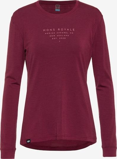 Mons Royale Shirt in beere, Produktansicht