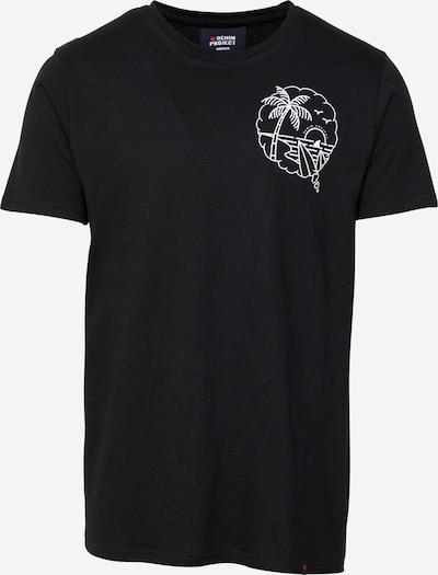 Denim Project T-Shirt in schwarz / weiß, Produktansicht