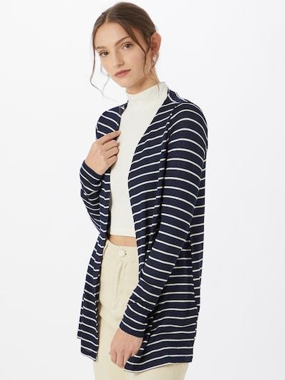 VERO MODA Pletena jopa 'Brianna' | mornarska / bela barva, Prikaz modela