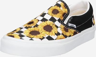 VANS Slip On tenisice u tamno smeđa / zlatno žuta / limeta zelena / crna / bijela, Pregled proizvoda
