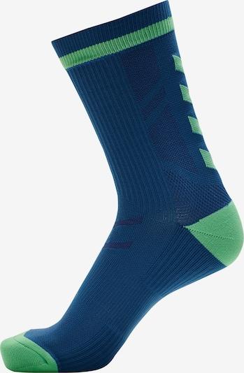 Hummel Chaussettes de sport en bleu foncé / vert, Vue avec produit