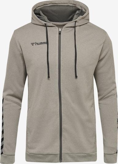Hummel Sportsweatjacke in grau / schwarz, Produktansicht