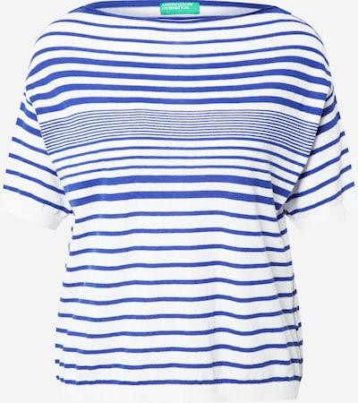 UNITED COLORS OF BENETTON Pull-over en bleu / blanc, Vue avec produit