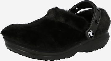 Crocs Träskor 'Classic Fur Sure' i svart