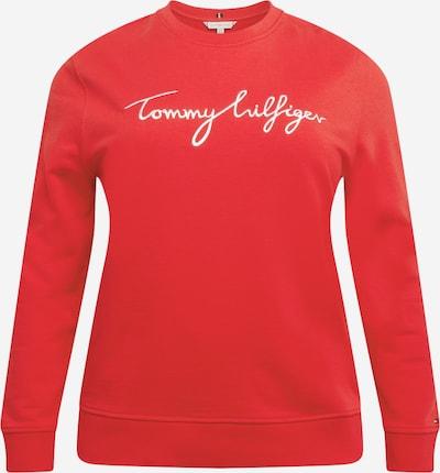 Bluză de molton Tommy Hilfiger Curve pe roșu / alb, Vizualizare produs