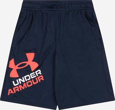 UNDER ARMOUR Sporthose 'Prototype 2.0' in navy / orangerot / weiß, Produktansicht