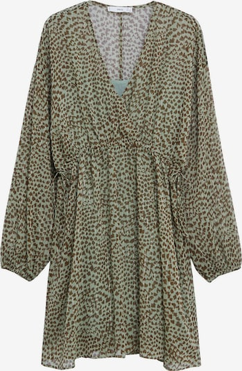 MANGO Kleid 'Paula' in braun / khaki / silber, Produktansicht