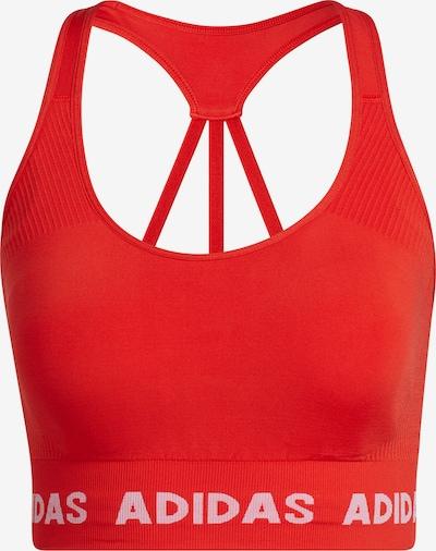 ADIDAS PERFORMANCE Sport-BH in rot / weiß, Produktansicht