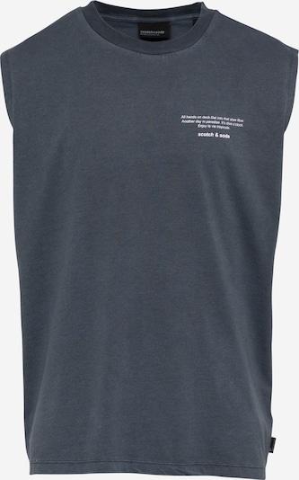 SCOTCH & SODA T-Shirt en gris foncé / blanc, Vue avec produit