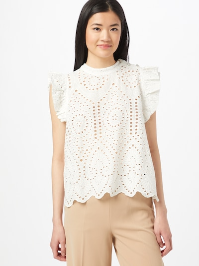ICHI Bluse in creme, Modelansicht