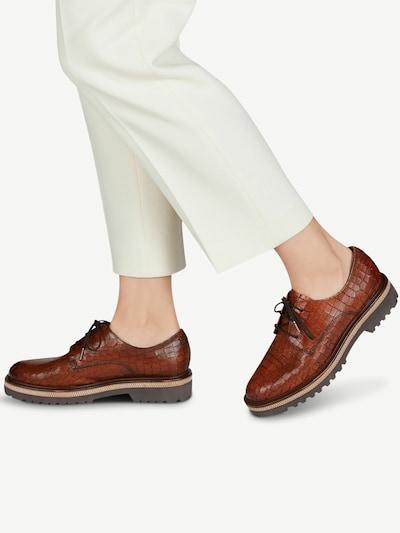 TAMARIS Chaussure à lacets en marron: Vue de face