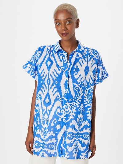 Trendyol Bluse in royalblau / weiß, Modelansicht