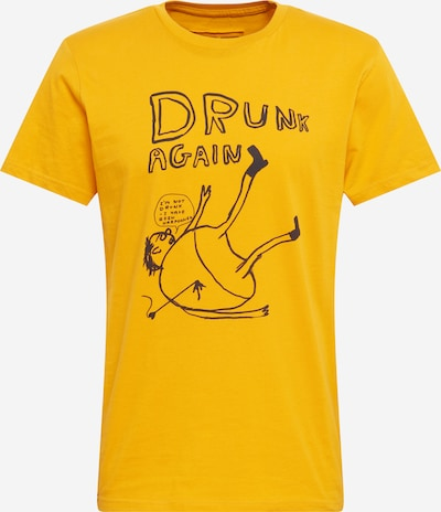 DEDICATED. Majica 'Stockholm Drunk' u žuta / crna, Pregled proizvoda