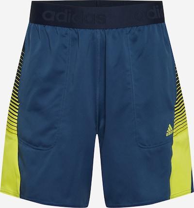 ADIDAS PERFORMANCE Pantalón deportivo en navy / azul oscuro / amarillo / blanco, Vista del producto