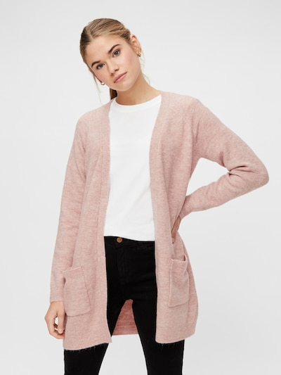 PIECES Knit Cardigan 'Perla' in Pink, View model