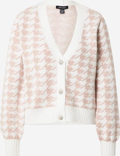 NEW LOOK Cardigan 'DOGTOOTH' en rose / blanc, Vue avec produit