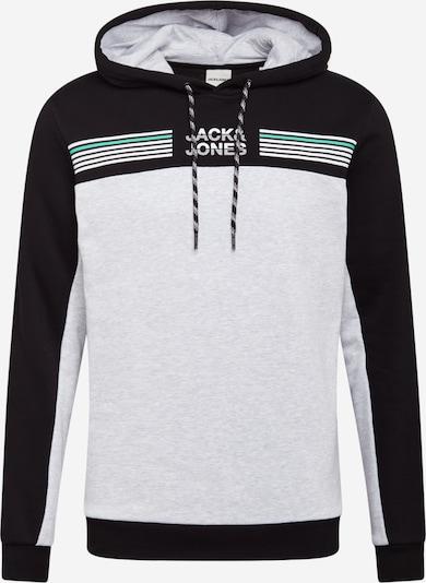 Felpa JACK & JONES di colore grigio chiaro / verde / nero, Visualizzazione prodotti