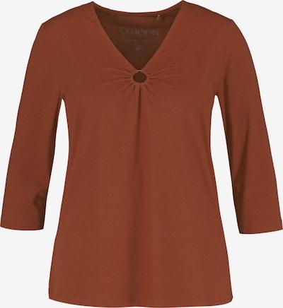 SAMOON Shirt in braun, Produktansicht