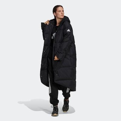 ADIDAS PERFORMANCE Outdoormantel in schwarz / weiß, Modelansicht