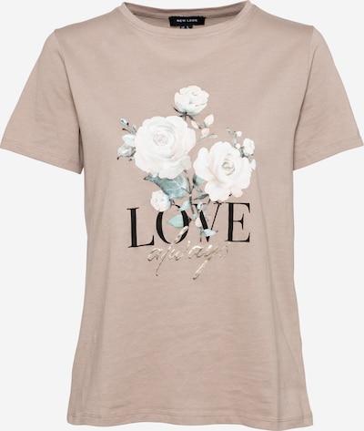NEW LOOK Shirt in de kleur Crème / Cappuccino / Goud / Groen / Zwart, Productweergave