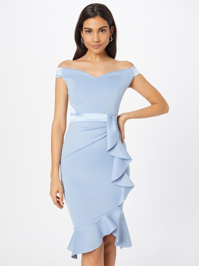 Lipsy Cocktail Dress in Light blue, View model