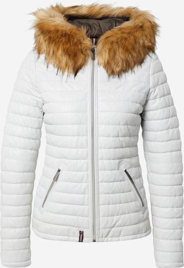 Žieminė striukė iš OAKWOOD, spalva – ruda (konjako) / balta, Prekių apžvalga