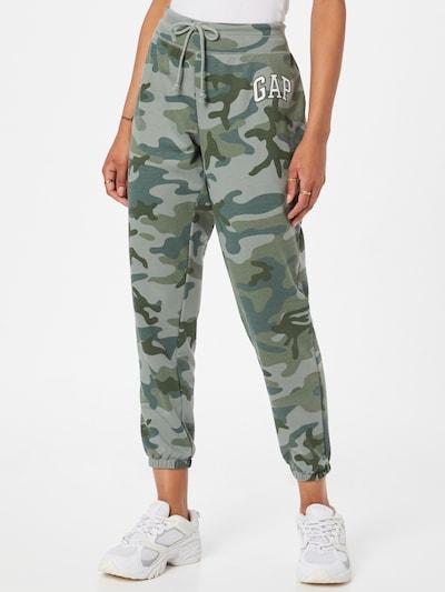 GAP Spodnie w kolorze khaki / szmaragdowy / pastelowy zielony / białym, Podgląd na modelu(-ce)