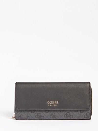 GUESS Portemonnaie in dunkelgrau, Produktansicht