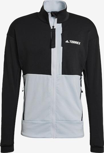 adidas Terrex Fleecejacke 'TERREX' in hellgrau / schwarz, Produktansicht