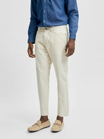 SELECTED HOMME 4056 - no stretch white denim cropped fit Jeans in naturweiß, Modelansicht