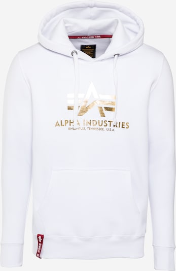 ALPHA INDUSTRIES Sweatshirt in gold / weiß, Produktansicht