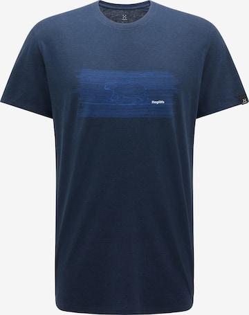 T-Shirt fonctionnel Haglöfs en bleu
