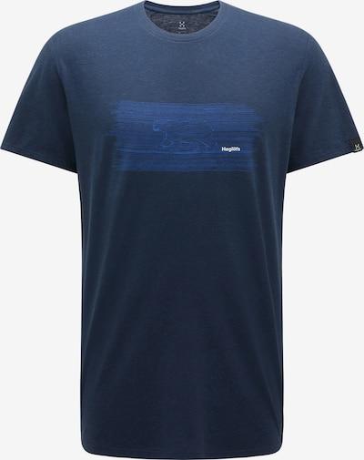 Haglöfs Functioneel shirt in de kleur Donkerblauw / Wit, Productweergave