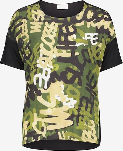 Cartoon Casual-Shirt mit Print in grün / schwarz, Produktansicht