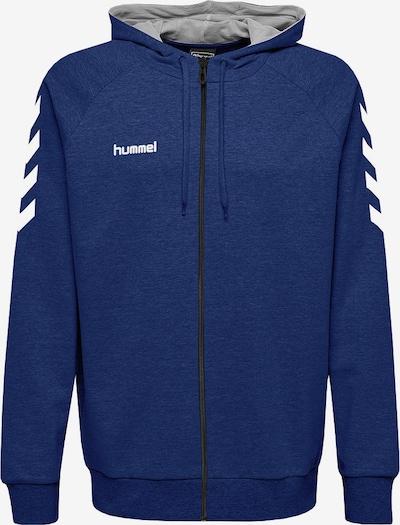 Hummel Sportsweatjacke in blaumeliert / weiß, Produktansicht