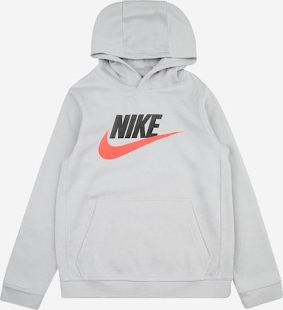 Nike Sportswear Sweatshirt in hellgrau / orangerot / schwarz, Produktansicht