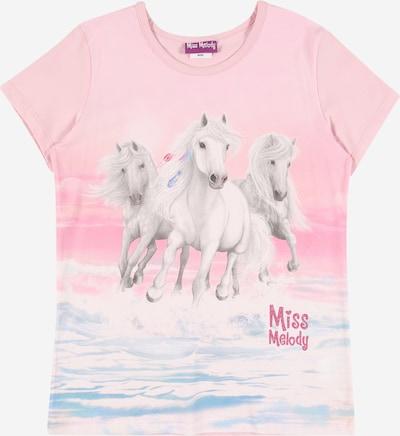 Miss Melody T-Shirt en aqua / gris clair / rose / rose / blanc, Vue avec produit