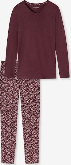 Pijama SCHIESSER pe roșu vin / alb, Vizualizare produs