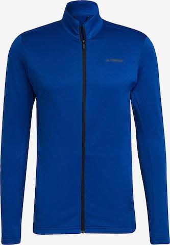 adidas Terrex Funktionele fleece-jas in Blauw