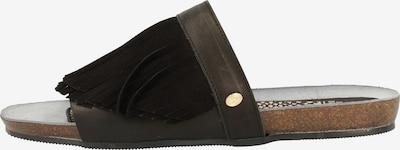 Fred de la BretoniÈre Pantoletten in dunkelbraun / schwarz, Produktansicht