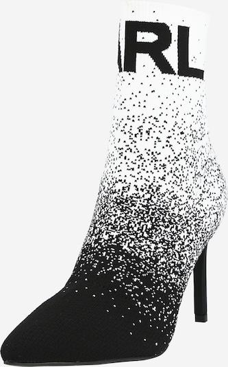 Karl Lagerfeld Bottines 'PANDORA' en noir / blanc, Vue avec produit